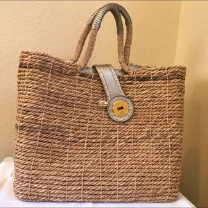 Michael Kors straw bag. Large 12 x 15.